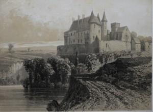 Vue ancienne du Château de Chantelle